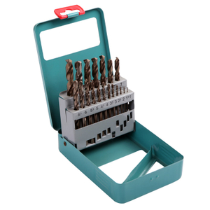 19 PCS HSS twist drill bit set ( green metal box )